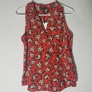 Who What Wear Floral Print  Sleeveless